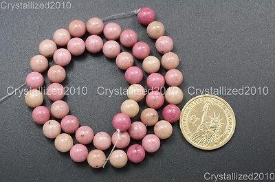 """Natural Rhodochrosite Gemstone Round Loose Beads 4mm 6mm 8mm 10mm 12mm 15.5"""""""