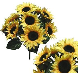 Image Is Loading 10 Country Sunflower 21 034 Bouquet Bridal Party