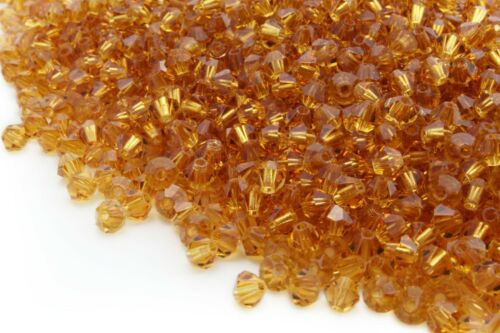 100 Austria Crystal Bicone Beads 4mm With Various Colors