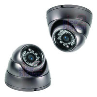 "Sharp 1/4"" 3.6mm 420TVL CCD 24 IR LEDs Security CCTV Dome Surveillance Camera"