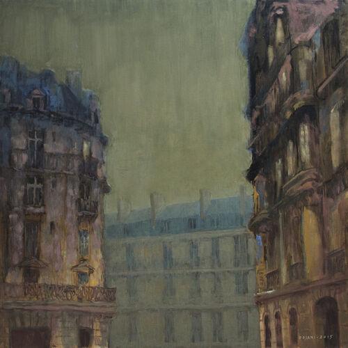 Paris Architecture Cityscape Art Giclee Print Original Painting Pojani Ipalbus