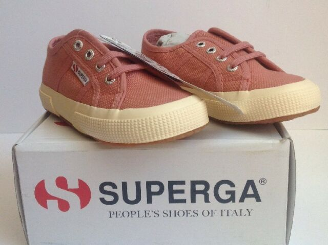 52b22e82fdc5 New Girls Superga 2750 Jcot Classic Dusty Rose Pink Canvas Shoes Size 9.5  EUR 27