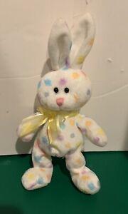 Ty Beanie Baby Hoppington Bunny Rabbit stuffed animal 2008 Easter Poka Dots