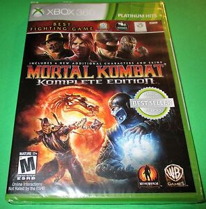 Mortal Kombat Komplete Edition Xbox 360 Factory Sealed Free