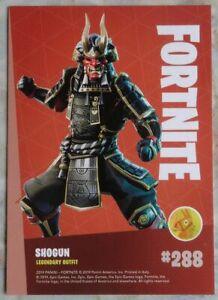 Trading Cards FORTNITE Serie 1 : SHOGUN # 288, Legendary, KEINE HOLO