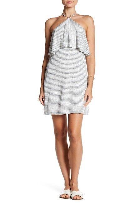 NEW Nordstrom Womens Size XS Splendid Striped Halter Linen Blend Dress