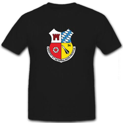 T Shirt #8488 FlaRakBtl 34 Flugabwehr Hawk Bundeswehr Bw Rakete Militär