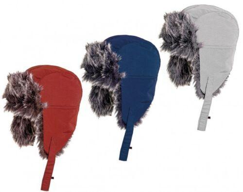 Kids fausse fourrure chapeau-bomber style hiver chapeau avec menton sangle idéal pour Snowsports