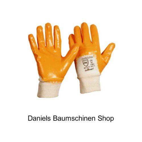 12-144 PaarSolidstar *TOP* Orange Nitril-HandschuheGr 9-11