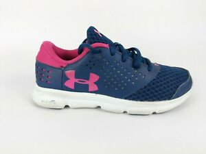 Navy//Pink Under Armour Girls Mojo Trainers 3020086