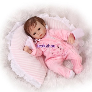 Soft Silicone Lovely 16inch 42cm Toy Reborn Baby Doll Eyes Open