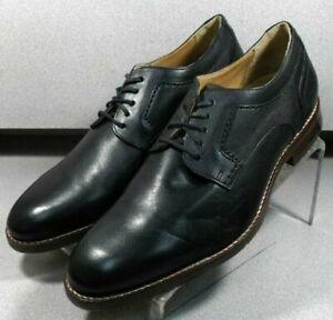 209595 WT50 Men's Shoe Size 9.5M Black Leather Lace Up Johnston Murphy Walk Test