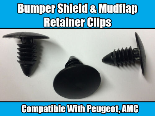 10x Clips For PEUGEOT AMC Fender Mud Flap /& Bumper Shield Retainer Black Nylon