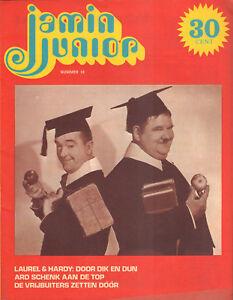 MAGAZINE-JAMIN-JUNIOR-1972-nr-18-LAUREL-amp-HARDY-COVER-ARD-SCHENK-FLORIS