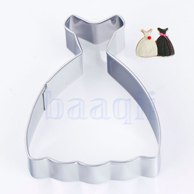 Princess Dress Cookie Cutter Fondant Cake Decorating Mold Baking Tool New MA