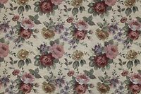 7 Yards Floral Tapestry Upholstery Fabric Heavy Rose Victorian French Sofa