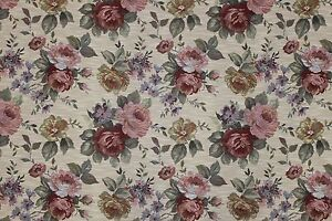 7 Yards Floral Tapestry Upholstery Fabric Heavy Rose Victorian