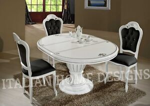 Image Is Loading Prestige Luxury WHITE Dining Room Table And 4