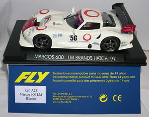 Fly A23 Marcos 600 Lm # 56 Marques Hatch 1997 Blanco Mb