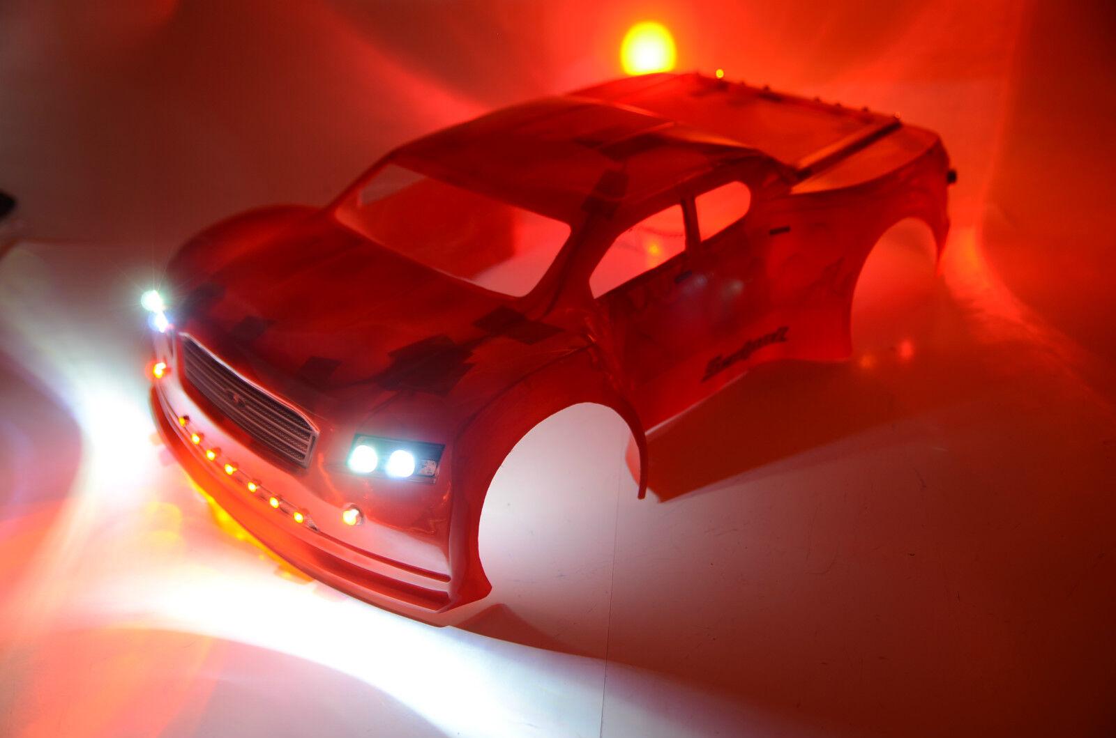 RC LED Light KIT for Traxxas Slash Scalpel body 0240.   33