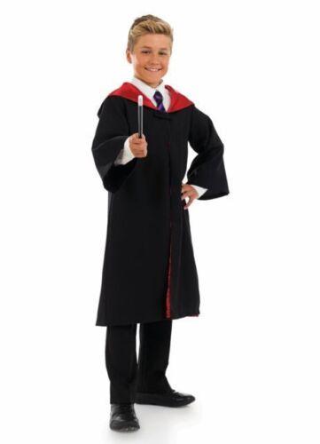 BOYS GIRLS WIZARD CAPE WITH WAND FANCY DRESS COSTUME