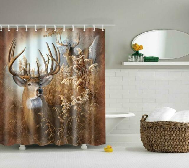 "Whitetail Ridge  Fabric Shower Curtain 72/"" x 72/"" Deer Print Free Shipping!"
