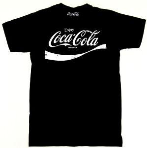04c5ee1071c8 Enjoy Coca-Cola T-shirt Distressed Soda Pop COKE Tee Adult Men Black ...