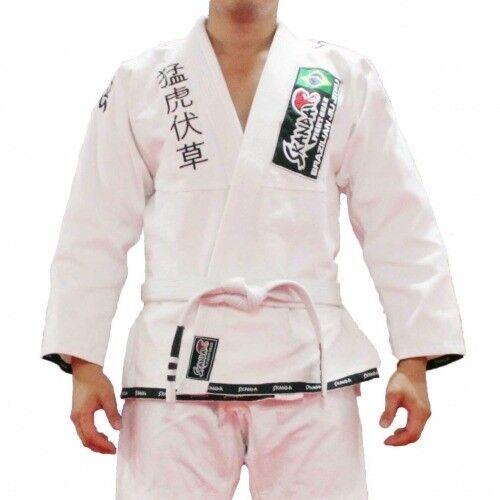 SKANDA Brazilian Jiujitsu Uniform Pearl Weave BJJ GI White Jiu jitsu suits