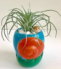 Decorative Planter with Artificial Tropical Plant in a Ceramic Seashell Planter