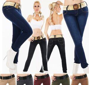 Senora-cadera-Jeans-Hose-vaqueros-pitillo-Skinny-slim-fit-cinturon-elastico-S-M-L-XL-XXL