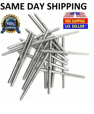 """T316 Stainless Steel Swage Lag Screw Stud Right Threaded for 3//16/"""" Cable Railing"""