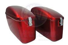 LW Hard Saddlebags Burgundy Red for C50 V Star Shadow Vulcan VTX Road Spirit