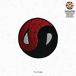 Yin Yang Spider-Man Superhero Movie Patch Iron On Patch Sew On Embroidered Patch