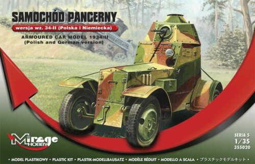 MIRAGE HOBBY® 355020 Armoured Car Model 1934//II German /& Polish Version in 1:35
