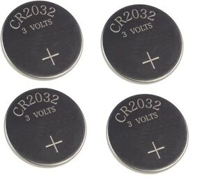 4 X AUDI A2 A3 A4 A5 TT REMOTE KEY FOB BATTERY CR 2032