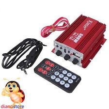 AMPLIFICATORE STEREO 500W KINTER MA-700 2 CH 12V DC USB SD CARD FM MINI AUDIO
