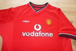 MANCHESTER-UNITED-UMBRO-2000-02-FOOTBALL-SOCCER-SHIRT-JERSEY-TOP-LARGE-BOYS
