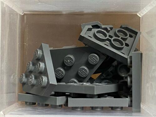 No 2450 LEGO Parts Dark Bluish Gray Wedge Plate 3 x 3 QTY 10