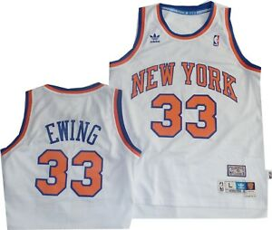 d443e9d59 New York Knicks Patrick Ewing Jersey Official Adidas Swingman White ...