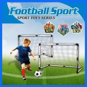 2-PC-Set-Kinder-Fussball-Tor-Netz-Mit-Ball-Pump-Mini-Fussballtor-Spielzeug-Sport