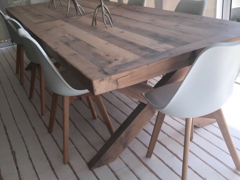 Table Scaffold Rustic Recycled Coneytimbers 10 Seater