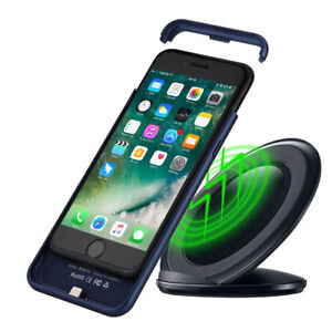 save off 4fce3 2ef9d Details about 2 in 1 Magnetic Phone Case + Qi Wireless Charger Receiver For  iPhone 6S 7 Plus