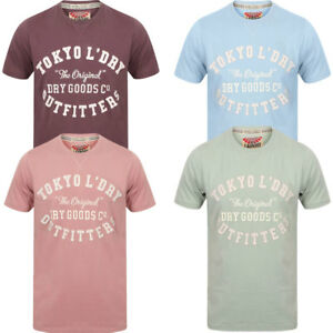 New-Mens-Tokyo-Laundry-Branded-Ellsworth-Crew-Neck-Cotton-Rich-T-shirt-Size-S-XL