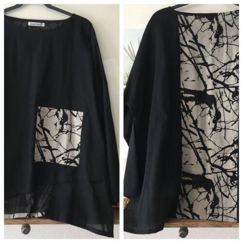 Yasuko Kurisaka Lagenlook Tunic Asymmetric Top Blo