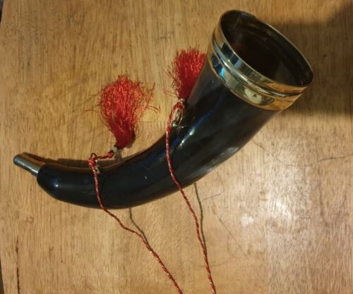 UNIQUE NATURAL BUFFALO HORN  FOX HUNTING HORN AUTHENTIC SOUND SHOOTING HUNT GIFT