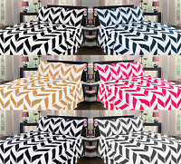 NEW 4PC CHEVRON STRIPED PRINTED MICROFIBER SHEET SET MANY COLORS IN QUEEN  SIZE