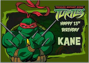 Teenage Mutant Ninja Turtles TMNT Red Raphael Birthday Card A5