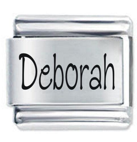 DEBORAH Name Daisy Charm Fits Nomination Classic Size Italian Charms Bracelet