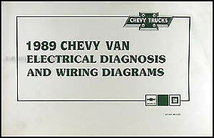 1989 chevy g van wiring diagram manual g10 g20 g30 sportvan rh ebay com chevy g20 wiring diagram Chevrolet Wiring Diagram Color Code