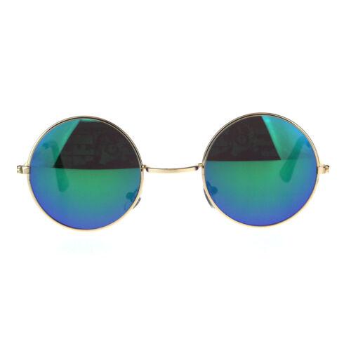 Kids Childern Size Metal Rim Round Circle Lens Color Mirror Sunglasses
